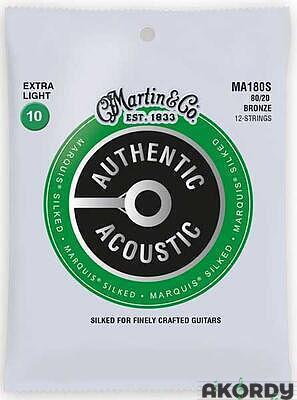 MARTIN Authentic Marquis 80/20 Bronze 12-String Ex - 1