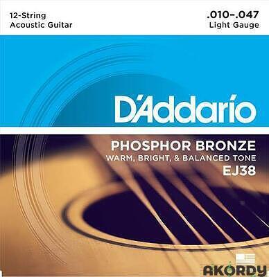 D'ADDARIO EJ38 .010/.047 12str. - 1