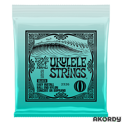 ERNIE BALL Ukulele Strings Black Nylon - 1