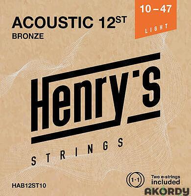 Henry's Strings HAB12ST10 .010/.050 12.str - 1