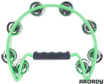 "IQ PLUS 8"" Cut-Away Plastic Tambourine - 1"