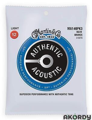 MARTIN Authentic SP 80/20 Bronze Light - 3 Packs - 1