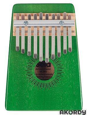 SELA Kalimba Mahogany 10 Green - 1