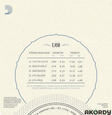 D´ADDARIO EJ60 .009/.020 - 2