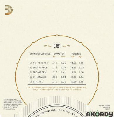 D'ADDARIO EJ61 .010/.023 - 2