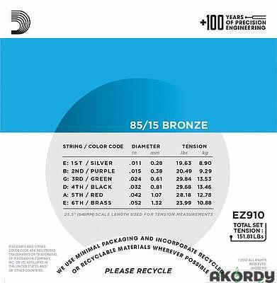 D'ADDARIO EZ910 .011/.052 - 2