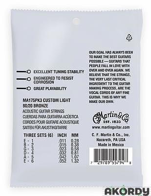 MARTIN SP 80/20 .011/.052 3 Packs - 2