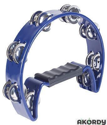 "IQ PLUS 8"" Cut-Away Plastic Tambourine - 2"