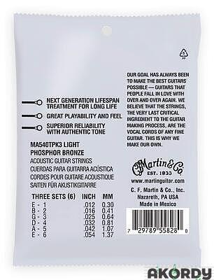 MARTIN Authentic SP PB .012/.054 3-pack - 2